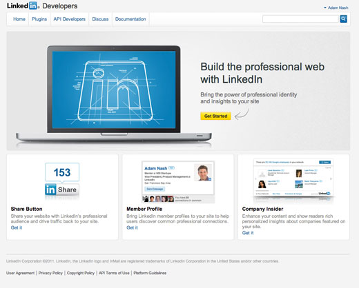 linkedindev LinkedIn launches developer platform, social plugins