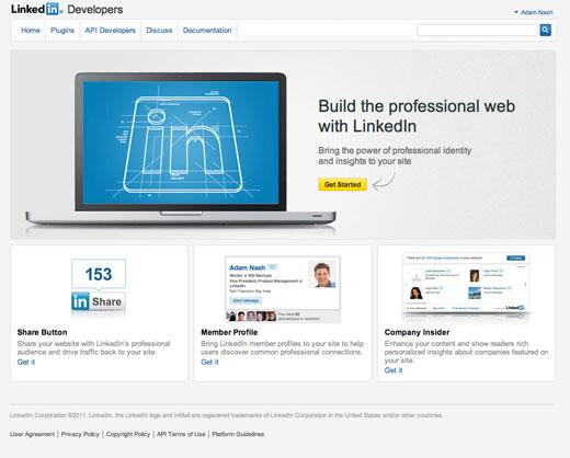 LinkedIn launches developer platform, social plugins