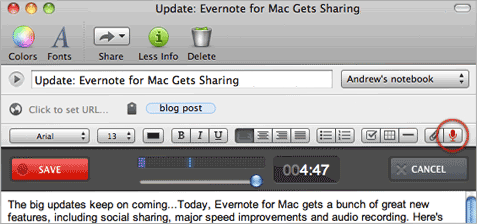 mac share2 Evernote keeps bringing the big updates, this time for Mac users