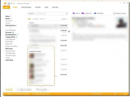 office15outlook 520x386 Screenshots point to new app Moorea in next version of Office