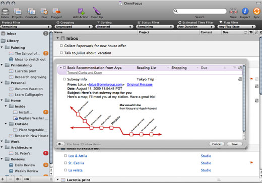 omnifocus The Mac OS X Task Manager Showdown
