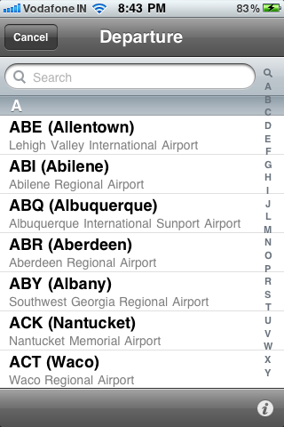 List of Airports