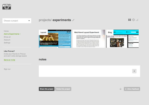 projects Prevue allows concept sharing between designers and clients