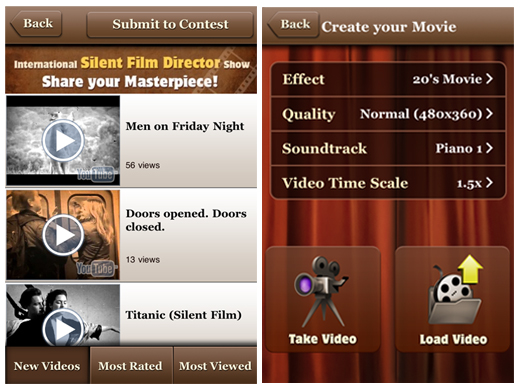 silentfilmdirector Silent Film Director: Cool iPhone app for creating silent movies