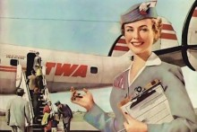twa stewardess 220x147 5 Airlines with Social Media Savvy at 35,000 feet