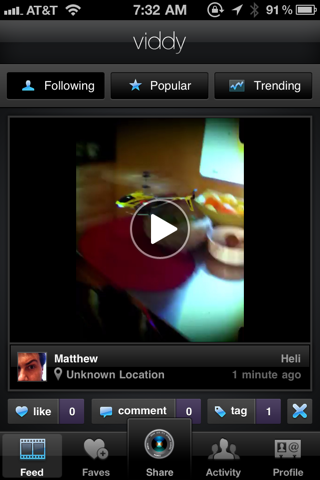 viddy 1 Viddy for iPhone is Instagram for Your Videos