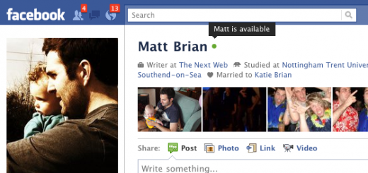 with tooltip 520x245 New Facebook profile status indicators show you when your friends are online