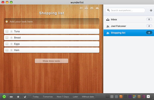 wunderlist The Mac OS X Task Manager Showdown