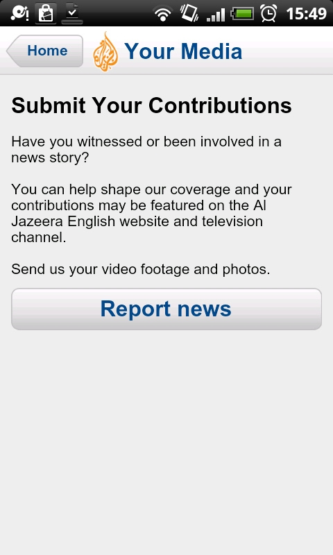 Al Jazeera Android App Your Media