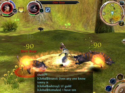 IMG 0273 2 Order & Chaos is the closest to World of Warcraft your iOS device can get