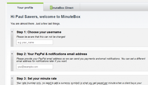 MinuteBox Profile 520x298 MinuteBox goes social to help users buy and sell expertise