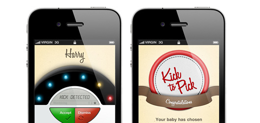 iPhone App lets your unborn baby pick its own name by kicking!
