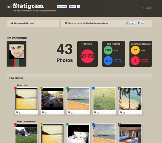 Picture 5 520x459 Statigr.am is Fun and Useful Metrics for your Instagram account