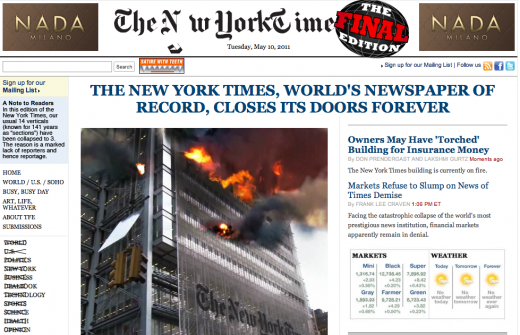 Screen shot 2011 05 10 at 9.10.40 AM 520x335 Just launched: The Final Edition, a dedicated parody of NYTimes.com