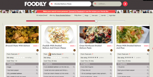 Screen shot 2011 05 16 at 10.23.44 AM 520x263 Foodily adds a comparative nutritional analysis for online recipes
