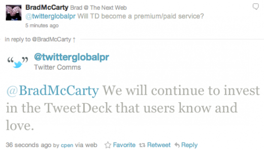 Screen shot 2011 05 25 at 11.01.50 AM 520x295 Twitter confirms TweetDeck acquisition for those needing more power.