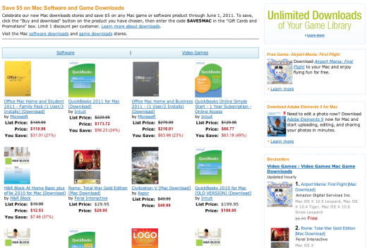 Screen shot 2011 05 26 at 10.51.52 AM 520x351 Amazon launches Mac Store competitor: Mac Download Store