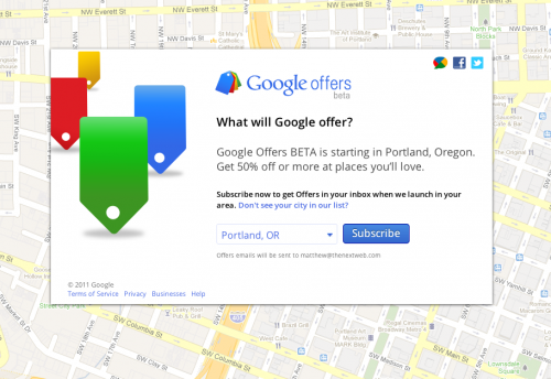Screen shot 2011 05 26 at 9.17.11 AM 500x344 Google launches local deal service Google Offers