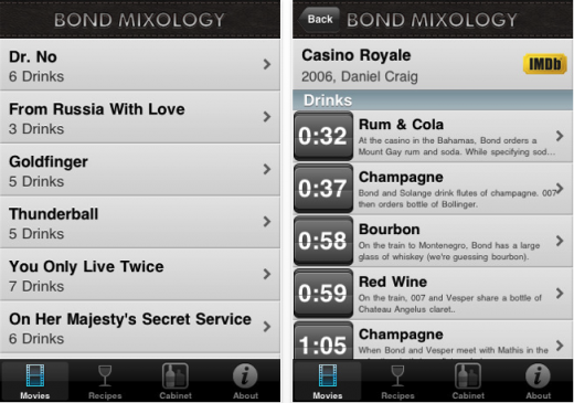 Screen shot 2011 05 30 at 7.04.30 PM 520x365 Get drunk like a super spy with The Bond Mixology app