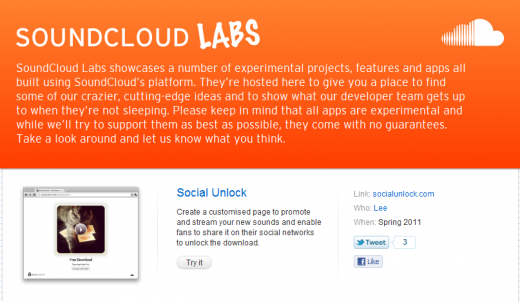 SoundCloud Labs 520x302 Say Hello to SoundCloud Labs