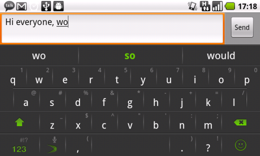 SwiftKey X landscape grab 520x312 SwiftKeys intelligent Android keyboard gets even smarter