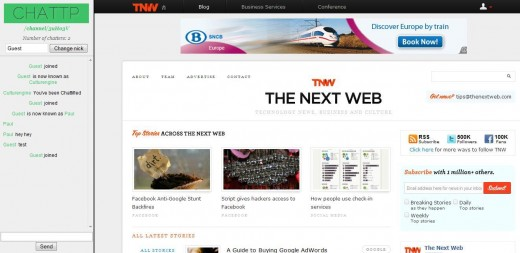 TNWCHattp 520x253 Chattp augments your browser with real time chat panel