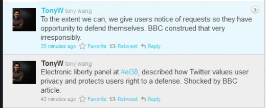 Wang 520x212 [Update] Twitters European boss says users are on their own if they break the law
