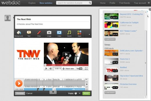 Webdoc TNW 520x348 Webdoc: the easy way to mix media online