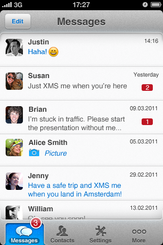 XMS iOS Screenshot 03 03 eBuddy XMS launches worldwide on iOS and Android, takes game to Kik and WhatsApp