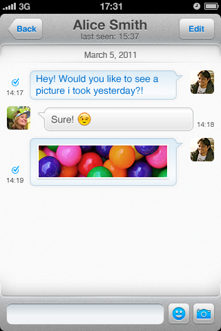 XMS iOS Screenshot 04 eBuddy XMS launches worldwide on iOS and Android, takes game to Kik and WhatsApp