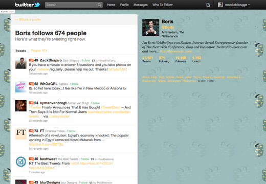 cbje1 Twitter now lets you view other peoples twitter streams