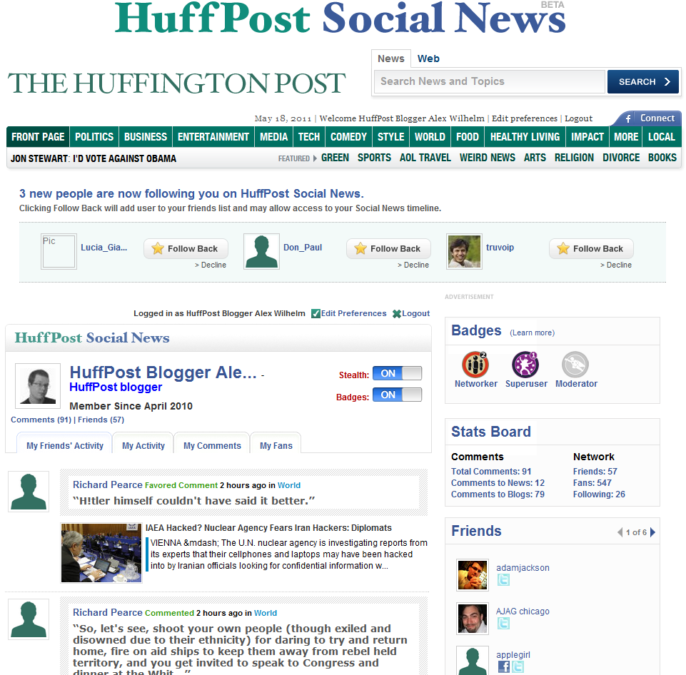 huff po really bad 1 The over socialization of website design