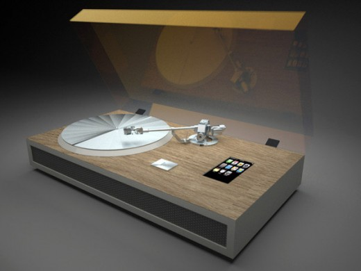 iPhone Turntable 520x390 Two worlds collide: 10 cool gadgets with a vintage feel