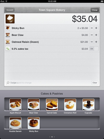 Square payment app updated to add shelves, item variety and beauty