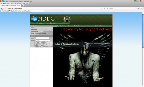 naijacyberhacktivist 494x299 Nigerian government agency website hacked by Cyberhacktivists