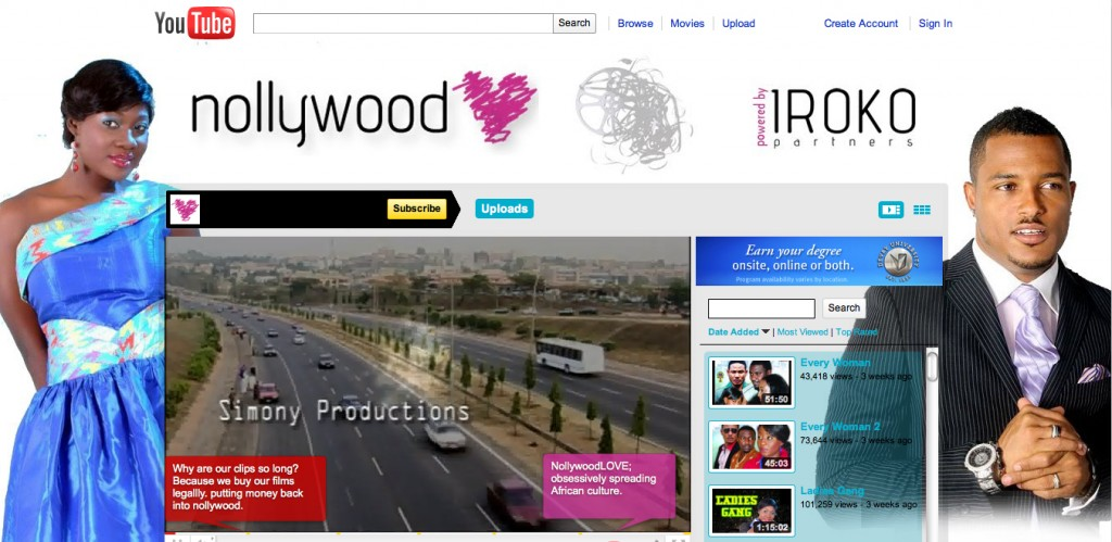 nollywoodloveon youtube Nigerias movie industry goes digital