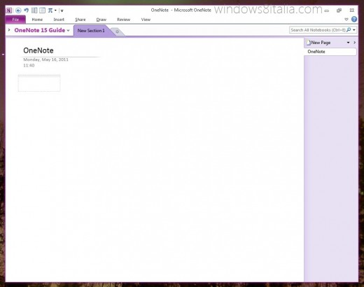 onenote metro 520x410 New Office 15 screenshots leak