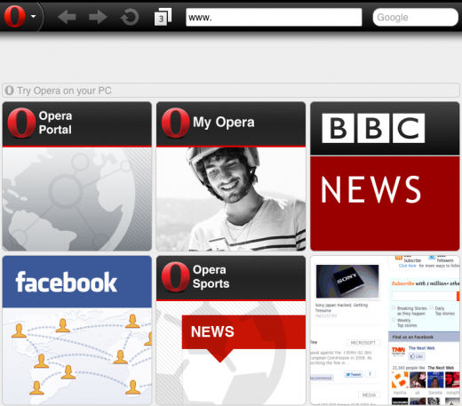 opera ios3 520x457 Opera web browser now available on iPad for the first time