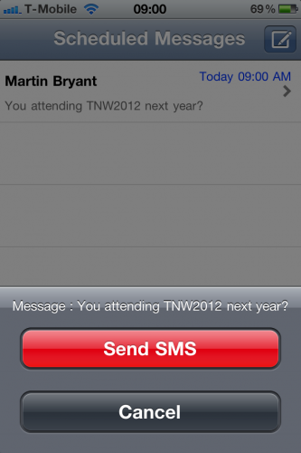 photo 2 1 333x500 Txtot for iPhone ensures youll never forget to send that important text message