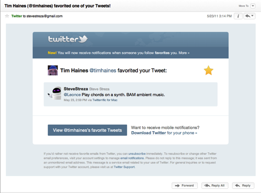 skitched 20110523 151756 Twitter Now Sending Emails for Retweets and Favorites [Screenshots]