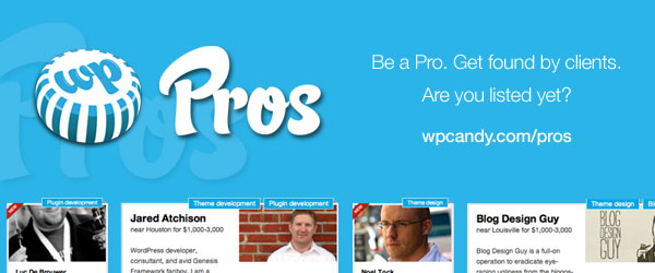 WPCandy Pros is a reverse job board for WordPress professionals