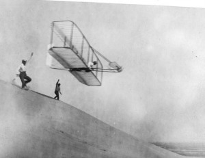 wright brothers glider 300x231 21 principles for innovating in the real world from IDEOs Diego Rodriguez