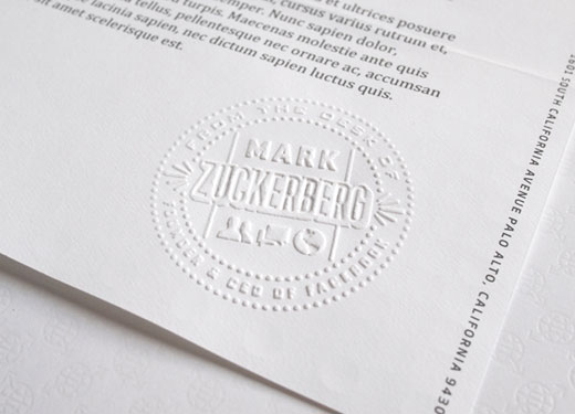 Mark Zuckerberg has his own personalized stationery, designed in ...