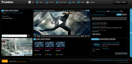 3. Screenshot Play Screen 520x253 Lutebox: a social entertainment hub for premium content