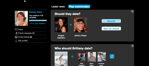 4Clique Matchmaker1 520x231 Interview: Clique, a dating site Facebook should be jealous of