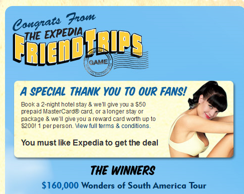 Expedia 1308838377053 Expedias Facebook fans grow by 750% in 6 weeks thanks to virtual sweepstake
