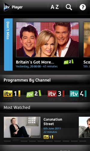 ITVCatchup1 300x500 UK TV network ITV launches catch up app for Android...before iOS