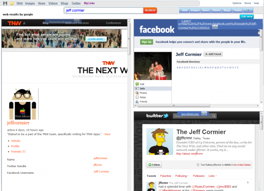 Jeff Cormier tnw 2 520x377 SearchLion: Search and browse at the same time