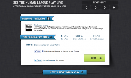 LoyaltyProgramme 520x312 GigsWiz teams up with The Human League for fan loyalty program