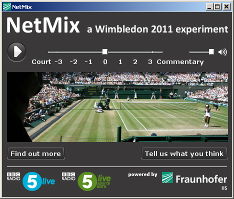 NetMix The BBC lets online Wimbledon listeners control the sound balance
